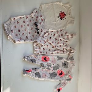 Baby gap lot! 0-3 month ladybugs and monsters!